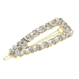 Barrette or et strass triangle gros strass