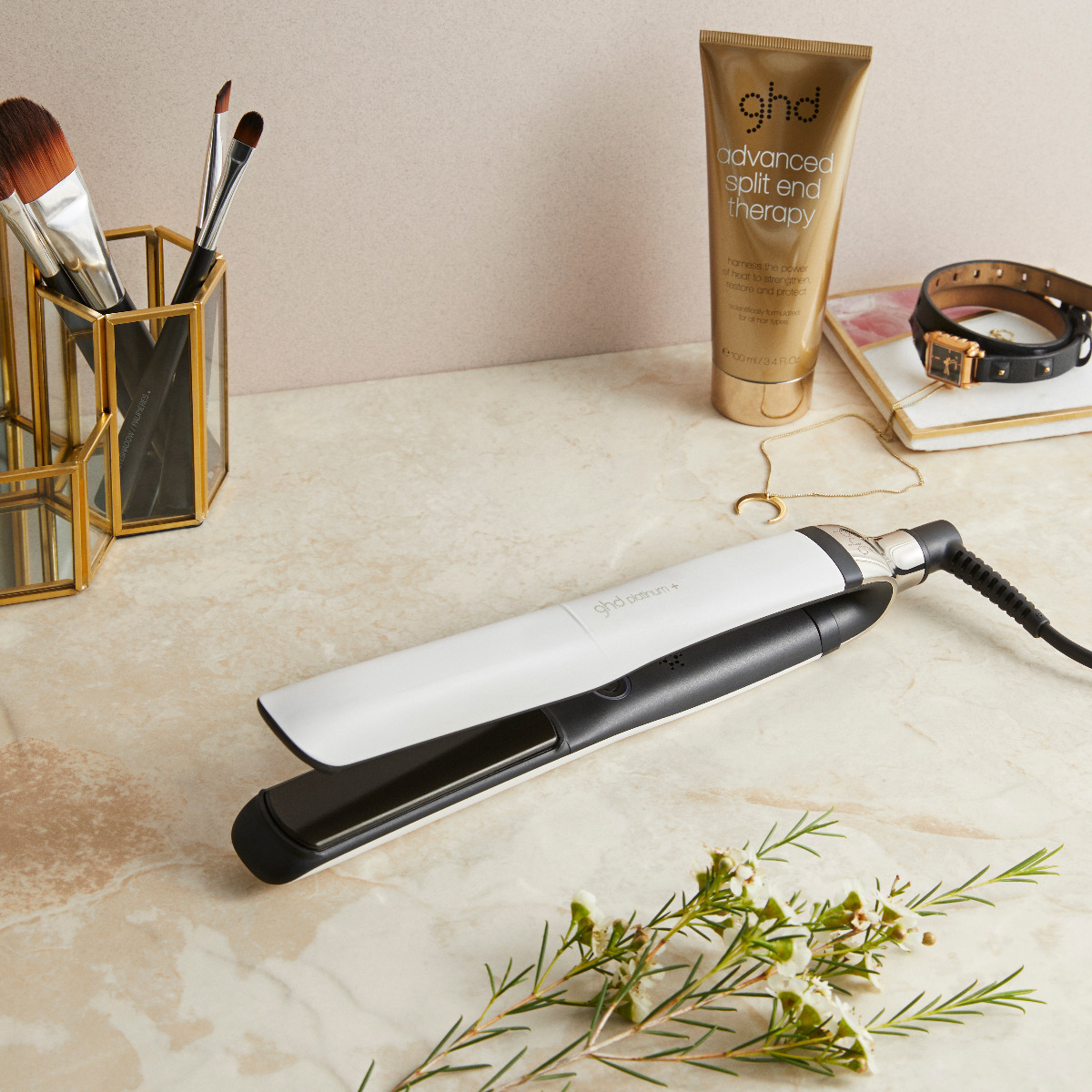 styler ghd platinum+ et soin advanced split end therapy  width